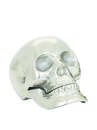 Torre & Tagus Small Skull Décor, Silver
