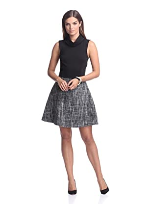 AS by DF Women's Alabama Dress with Tweed Skirt (Black)