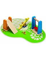 Hape Happy Family Doll House Furniture Playground, Multi Color