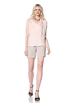 Parker Women's Sleeveless Drape Top (Blush)