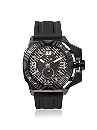 GV2 by Gevril Men's 9401 Grande Black Silicone Watch with an Extended Case