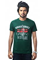 UK Tribes Men's Cotton Green T-Shirt (Small)