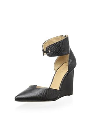 Fiel Women's Bristol Ankle Cuff Wedge Heel (Black)