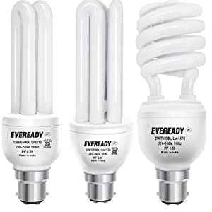 Eveready BHK 20, 27 and 15-Watt Combo CFL (White and Pack of 3)