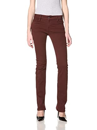 Etienne Marcel Women's Sexy Straight Fit Jean (Burgundy)