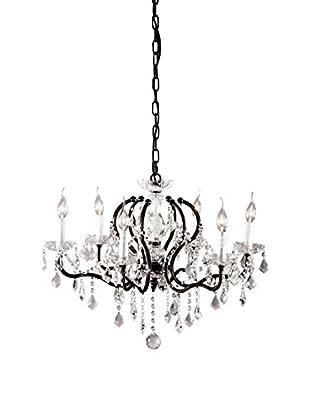 Zuo Gypsum Ceiling Lamp, Rust/Black/Crystal