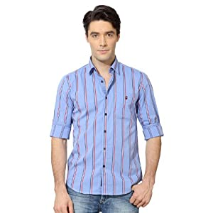 Louis Philippe LYSF513S08559 Men's Shirt-Blue