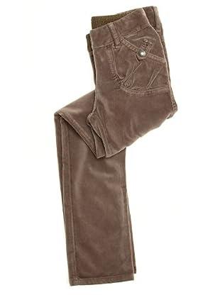 Naf Naf Chevignon Pantalón Aterciopelado (gris)