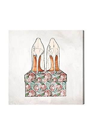 Oliver Gal 'Floral Shoes' Canvas Art