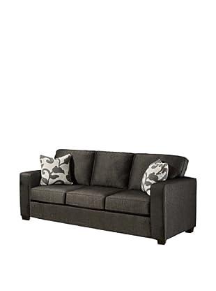 Armen Living Calvin Sofa in Talbot Fabric, Onyx