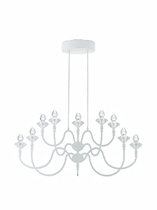 Fabbian Edge 9-Light Pendant, White
