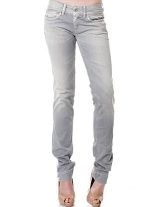 Pepe Jeans London Pantalón Twiggy (Gris Claro)