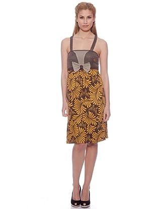 Amarillo Limón Vestido Indiana (Chocolate)