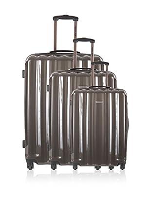 Travel ONE Set de 3 trolleys rígidos Altamura Gris