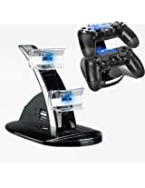 Led Dual Controller Charger Dock Station Stand Charging For Play Station Ps3 Blue