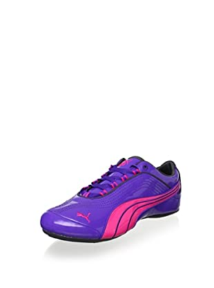 PUMA Women's Soleil Patent Leather Sneaker (Purple/Cabaret/Shadow)