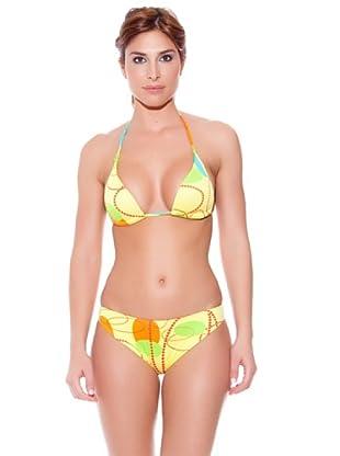 Teleno Bikini Triángulo Con Foam (Amarillo)