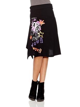 Desigual Falda Raquel (Negro Estampado)