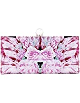 Ted Baker Pink Ippari Print Leather Matinee Purse New