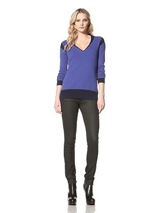 Jamison Women's Colorblock Sweater (Cobalt)