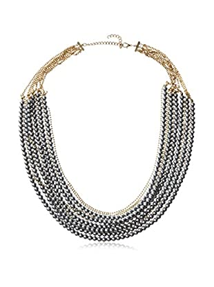 Jules Smith Layered Pearl and Chain Necklace