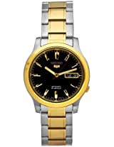 Seiko 5 Two Tone Automatic Mens Watch Snk794