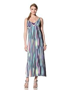 diNeila Women's Striped Maxi Dress (Chakra)