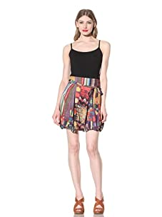 Desigual Women's Printed Bubble Hem Skirt (Multi)