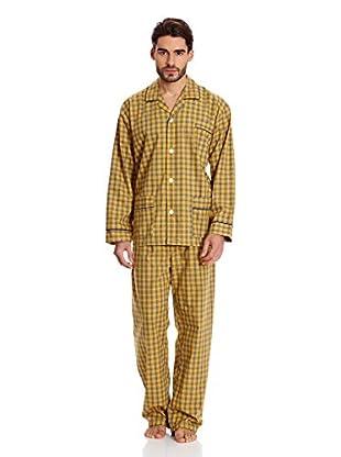 Plajol Pijama Larga Cuadros (Mostaza)