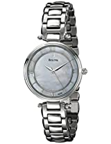 Bulova Classic Analog Mother of Pearl Dial Women's Watch - 96L185