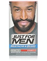 Just for Men Mustache and Beard Color, Jet Black (Pack of 3)