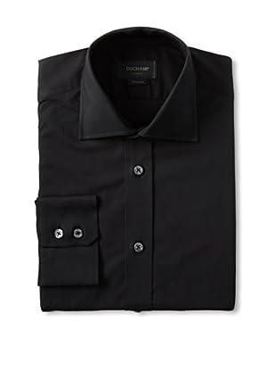Duchamp Men's Plain Dress Shirt (Black)