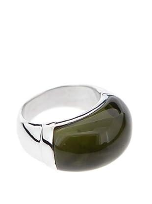 Luxenter Anillo Yeye Verde Pardo Cuarzo