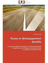 Route Et Developpement Durable (Omn.Univ.Europ.)