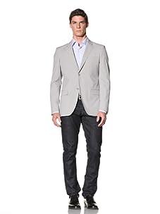Calvin Klein Collection Men's Hudson Microplaid Sport Jacket (Grey)