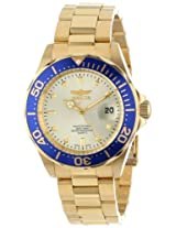 Invicta Pro-Diver Analog Gold Dial Men's Watch - 14124