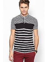 Black Stripes Polo T Shirt