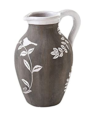 Napa Home and Garden Mykonos Pitcher With Handle, Gray/White