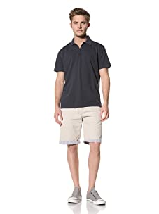 Tailor Vintage Men's Johnny Collar Polo (Navy)