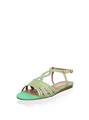 Pour La Victoire Women's Farida Sandal (Gold/Kelly Green)