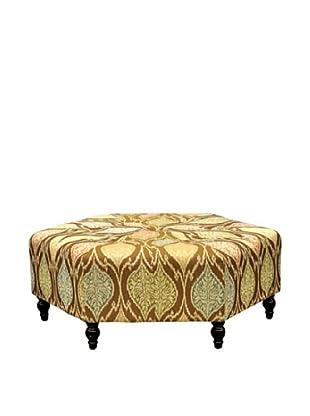 Armen Living Punjab Mosaic Fabric Ottoman, Brown