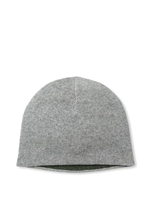 Sofia Cashmere Men's Cashmere Reversible Hat (Grey/Olive)