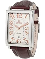 Gevril Men's 5005A Avenue of America Stainless Steel Watch with Brown-Leather Strap