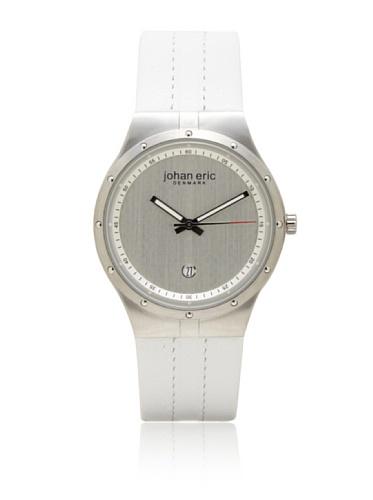 Johan Eric Men's JE3001-04-001 Skive White Leather Watch