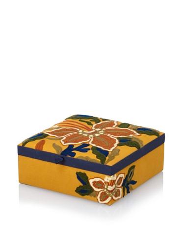 Purva Calla Lily Jewelry Box, Mustard