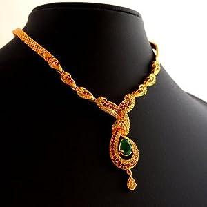 Necklaces - Ruby emerald necklace