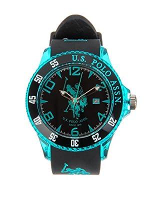 U.S. POLO ASSN. Uhr mit japanischem Quarzuhrwerk Starlight schwarz 44 mm