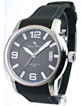 Lucien Piccard 28163BU Men's Date Watch Rubber Strap