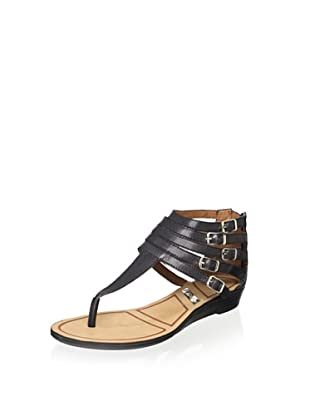Matiko Women's Hannah Strappy Buckle Sandal (Black)