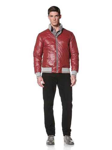 LOVE Moschino Men's Reversible Down Jacket (Grey/Red)